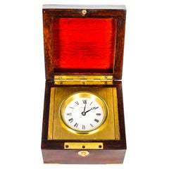 Mahogany Cased Mahogany Travel Clock by Tiffany & Co, Mid-20th Century