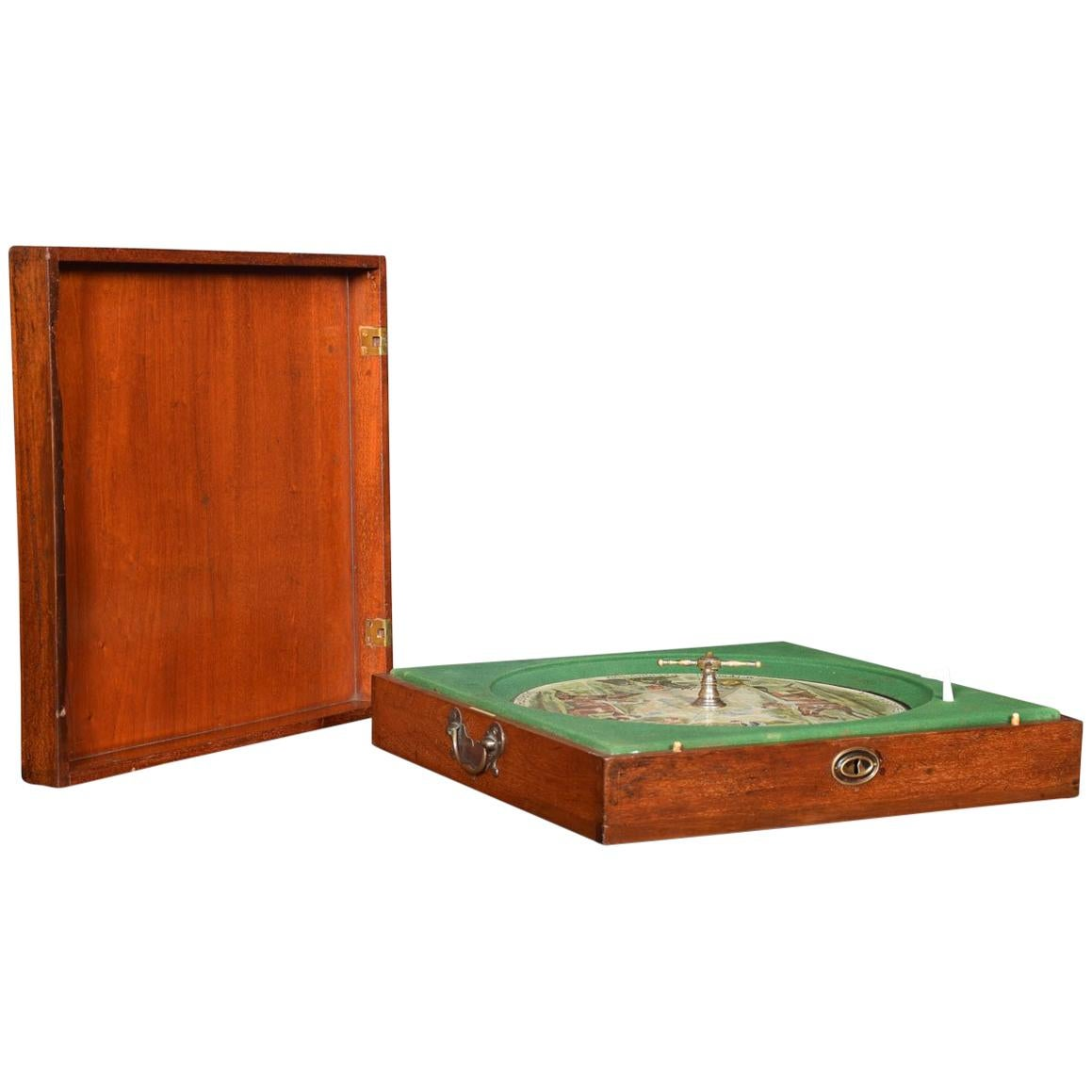 Mahogany Cased Sandown Roulette Style Horse Racing Game by F.H. Ayres, London
