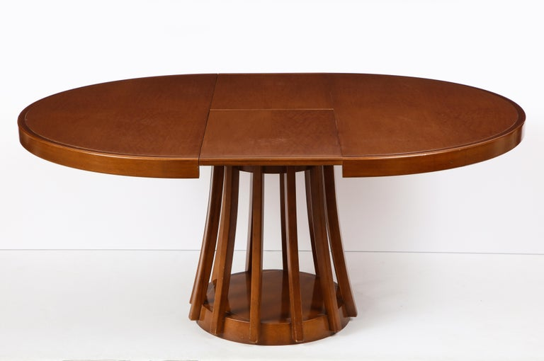 Mahogany Center and Dining Table by Angelo Mangiarotti, 1972  For Sale 4