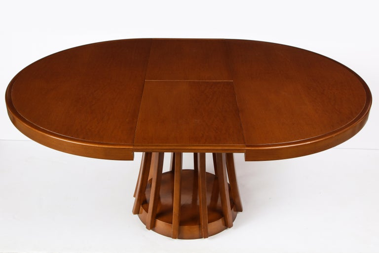 Mahogany Center and Dining Table by Angelo Mangiarotti, 1972  For Sale 5