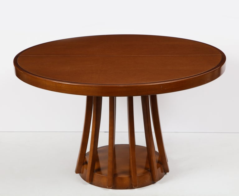 Mid-Century Modern Mahogany Center and Dining Table by Angelo Mangiarotti, 1972  For Sale