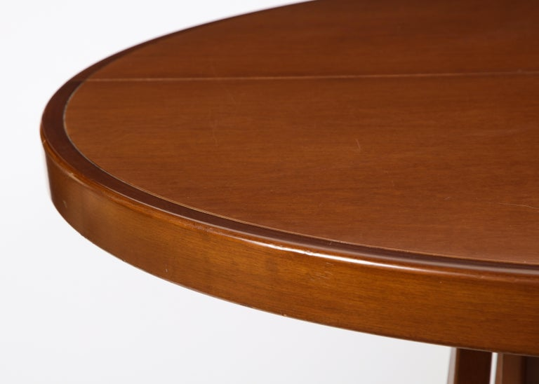 Italian Mahogany Center and Dining Table by Angelo Mangiarotti, 1972  For Sale