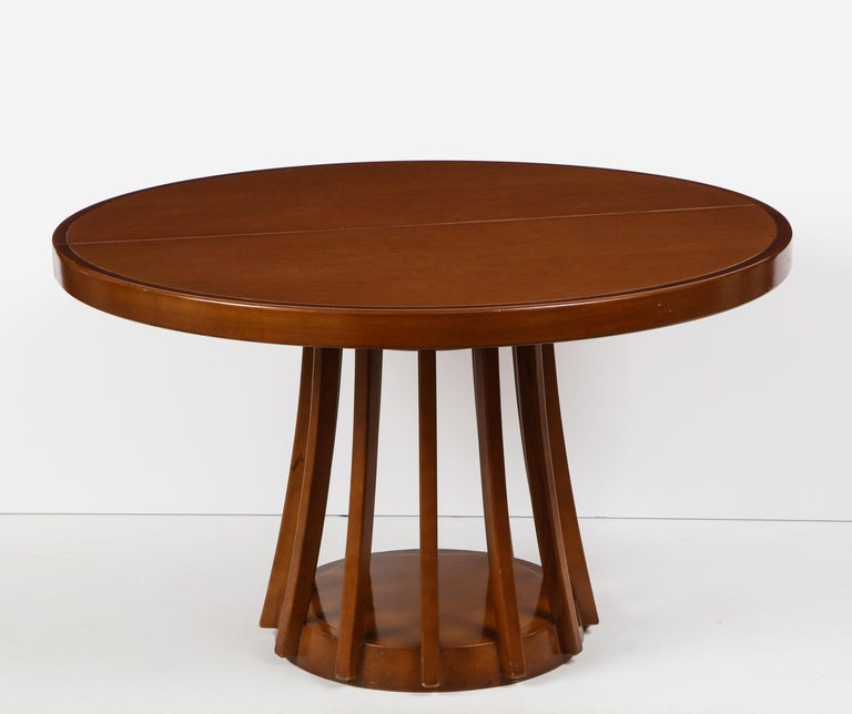Mahogany Center and Dining Table by Angelo Mangiarotti, 1972  In Good Condition For Sale In New York, NY