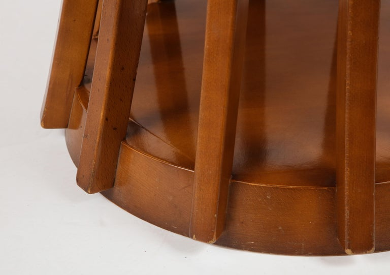 Late 20th Century Mahogany Center and Dining Table by Angelo Mangiarotti, 1972  For Sale