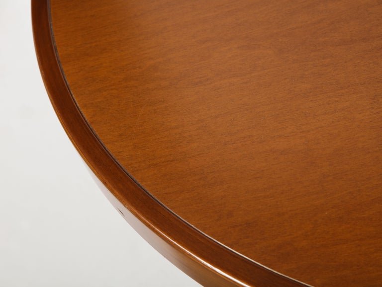 Mahogany Center and Dining Table by Angelo Mangiarotti, 1972  For Sale 1