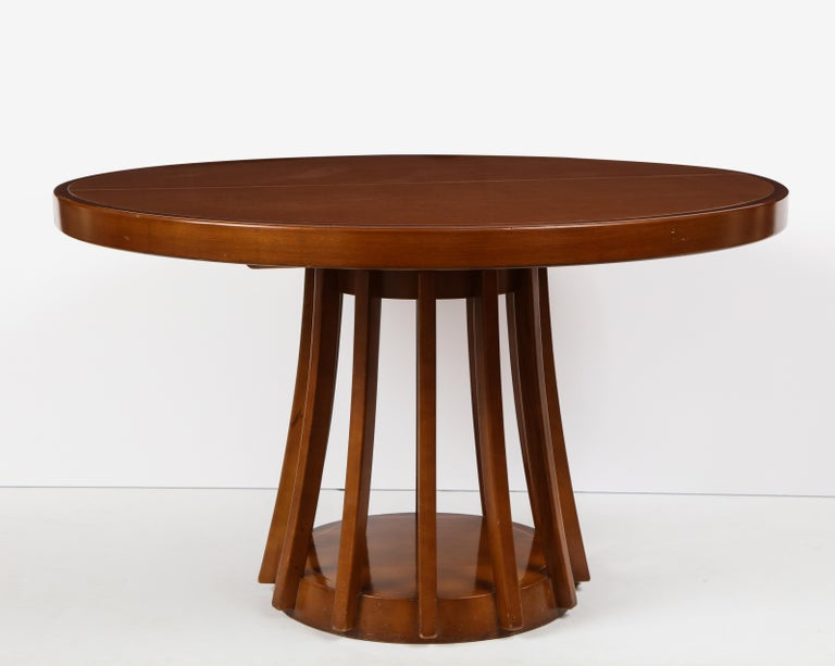 Mahogany Center and Dining Table by Angelo Mangiarotti, 1972  For Sale 2