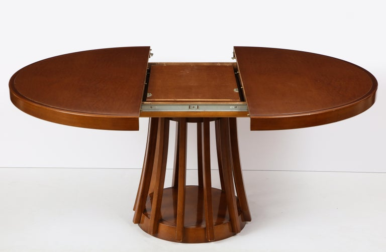 Mahogany Center and Dining Table by Angelo Mangiarotti, 1972  For Sale 3