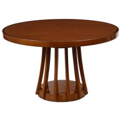 Mahogany Center and Dining Table by Angelo Mangiarotti, 1972