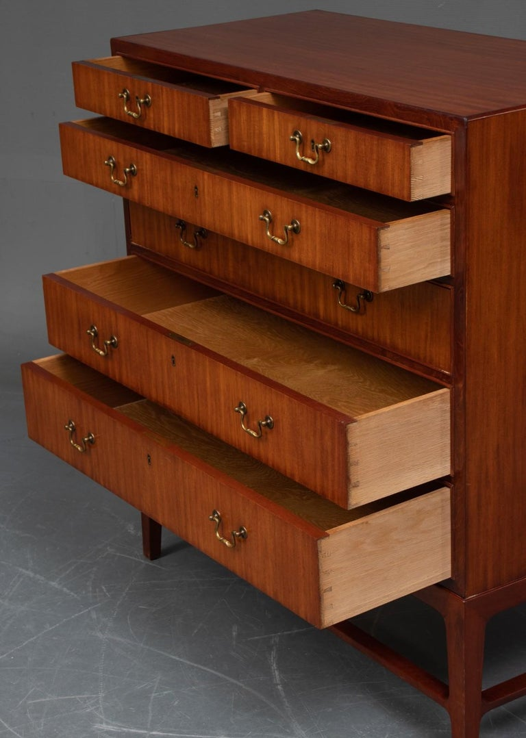 Modern Mahogany Chest of Drawers For Sale