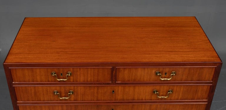 Danish Mahogany Chest of Drawers For Sale