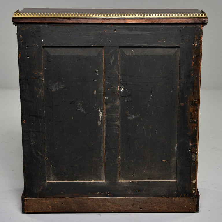Mahogany Chiffonier With Brass Lattice Door Fronts In Good Condition For Sale In Troy, MI