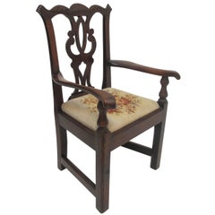 Mahogany Chippendale Child's Chair Apprentice Sample, English, 19th Century