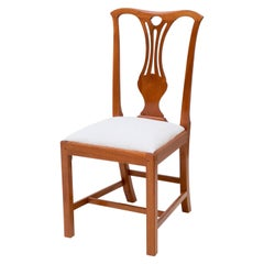 Mahogany Chippendale Dining Chair with Pegged Joinery and Upholstered Slip Seat