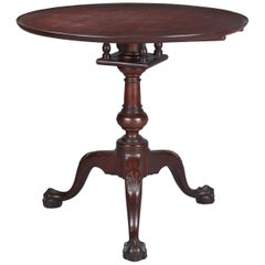 Mahogany Chippendale Dish Top Tea Table