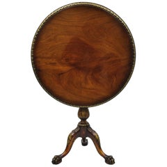 Mahogany Chippendale Style Pie Crust Tilt-Top Tea Table Ball and Claw Feet