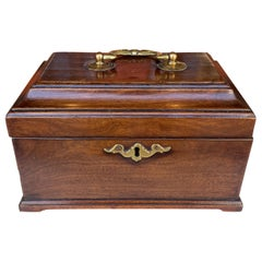 Mahogany Chippendale Tea Caddy