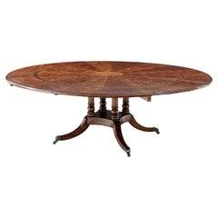 Mahogany Circular Extending Dining Table