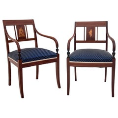 Mahogany Classic Blue Chairs After Renovation