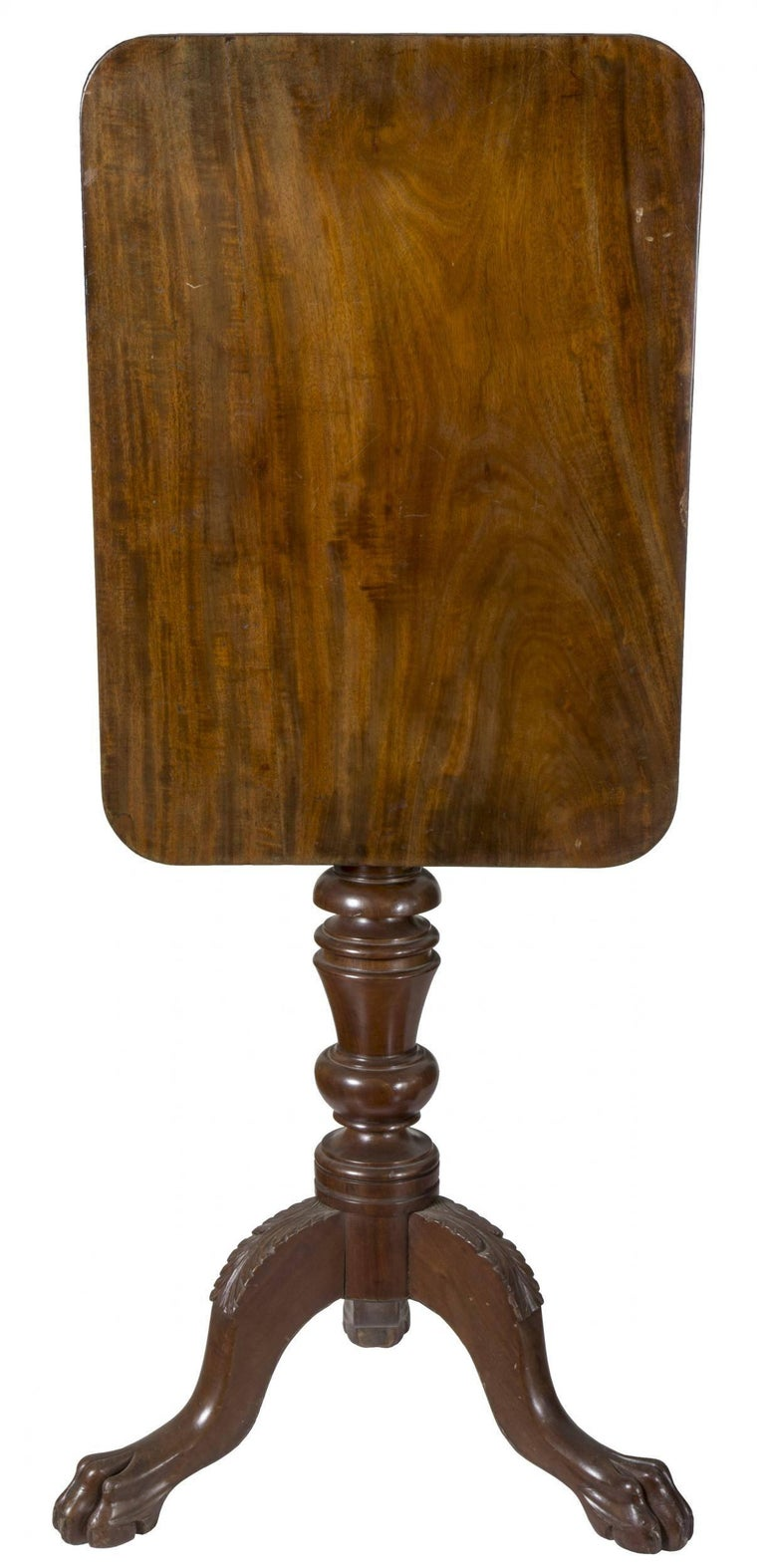 American Classical Mahogany Classical Candle Stand, American, circa 1820 For Sale