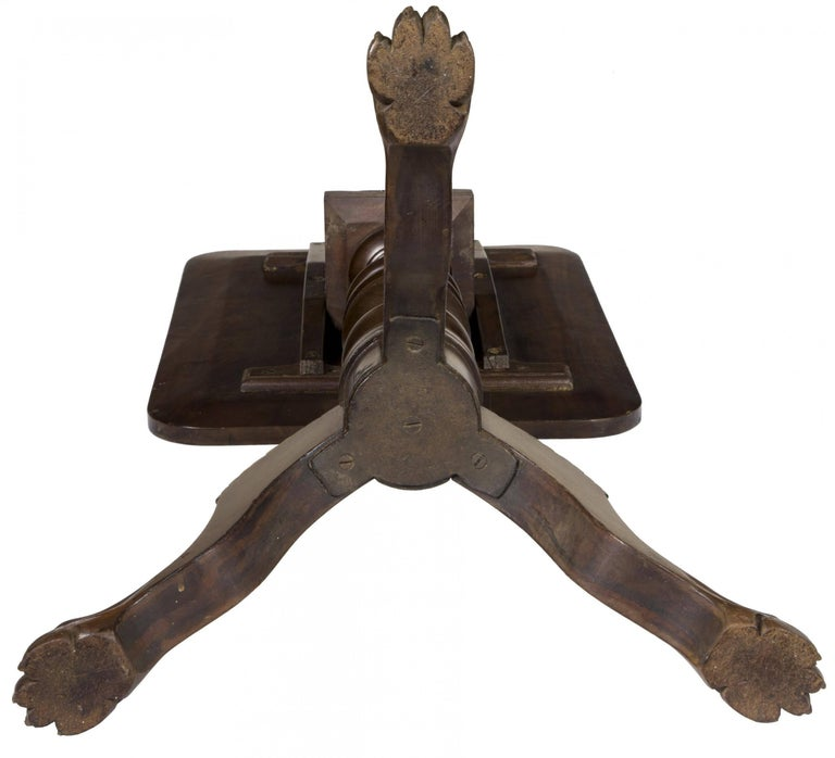 Mahogany Classical Candle Stand, American, circa 1820 For Sale 1