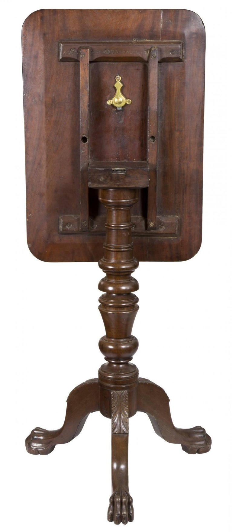 Mahogany Classical Candle Stand, American, circa 1820 For Sale 3