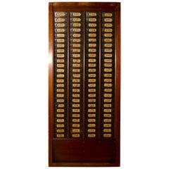 Mahogany Clocking in Time Card Rack