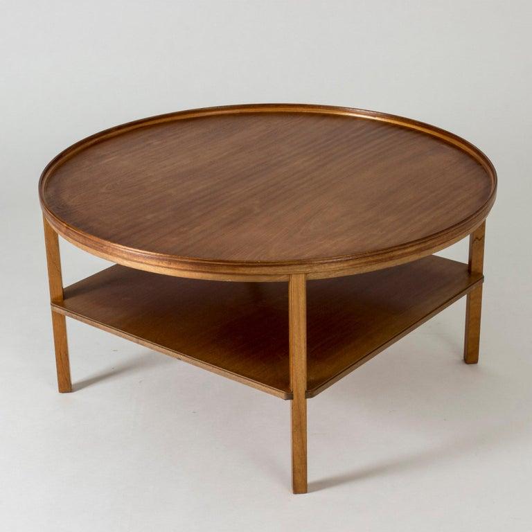 Scandinavian Modern Mahogany Coffee Table by Kaare Klint For Sale