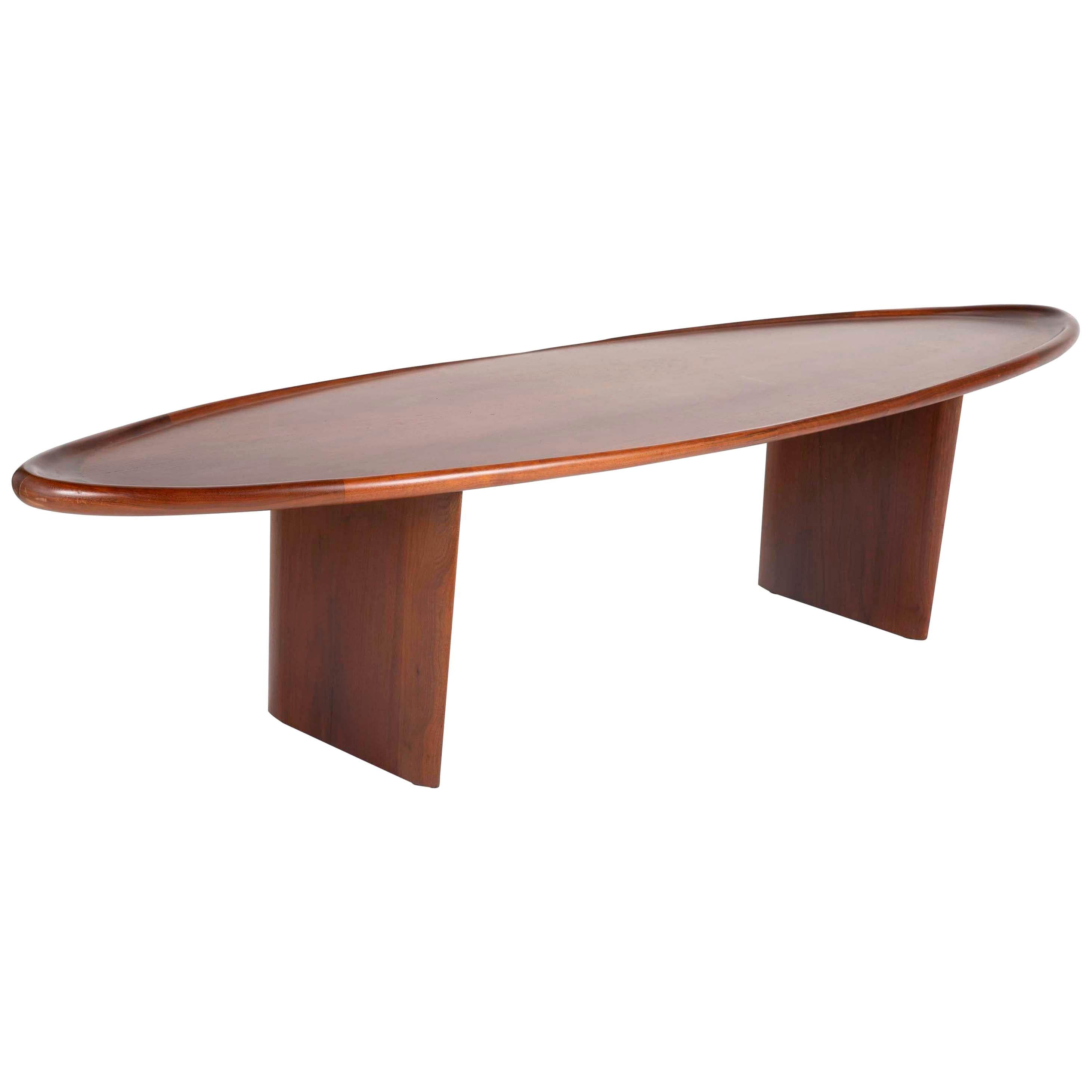 Mahogany Coffee Table Designed by T.H. Robsjohn-Gibbings for Widdicomb