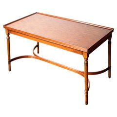 Mahogany Coffee Table with Fluted Legs