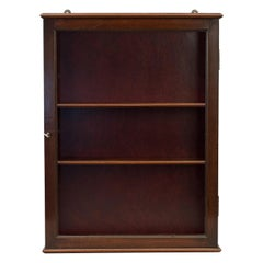 Mahogany Collectors Wall Cabinet with Glass Door