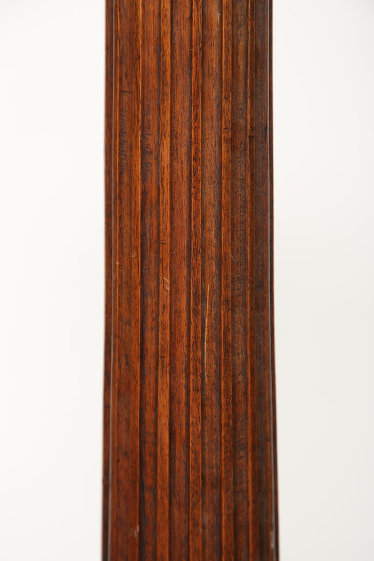 English Mahogany Column with Corinthian Capital For Sale