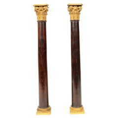 Mahogany Columns with Corinthian Capitals, First Half of the 19th Century
