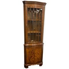 Mahogany Corner Cabinet by Bevan Funnel, Reprodux Serpentine Shape