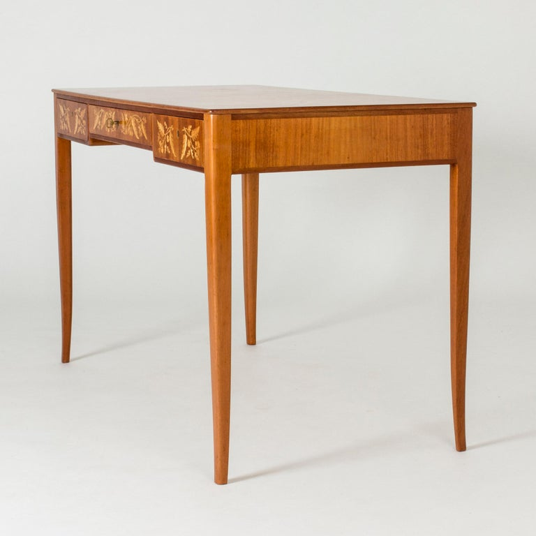 Scandinavian Modern Mahogany Desk by Carl Malmsten