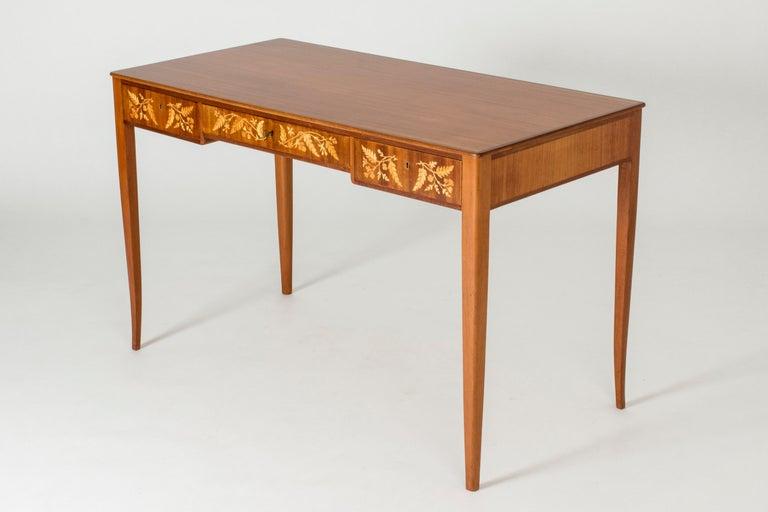 Mahogany Desk by Carl Malmsten In Good Condition In Stockholm, SE