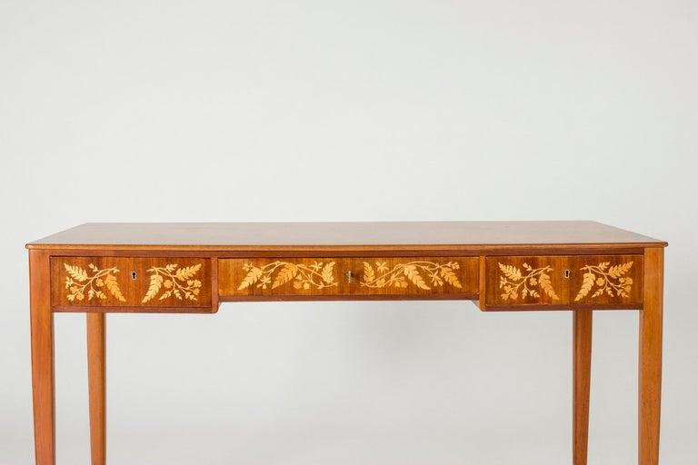 Mid-20th Century Mahogany Desk by Carl Malmsten