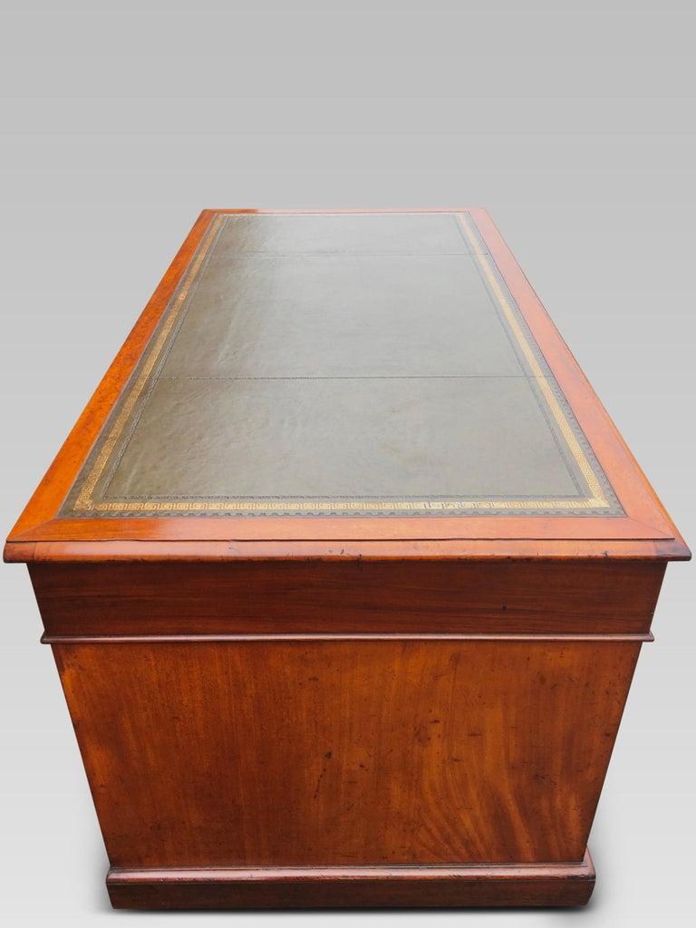 Hand-Crafted Mahogany Desk, English, circa 1850 For Sale