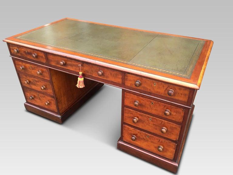 Mahogany Desk, English, circa 1850 In Good Condition For Sale In Honiton, Devon