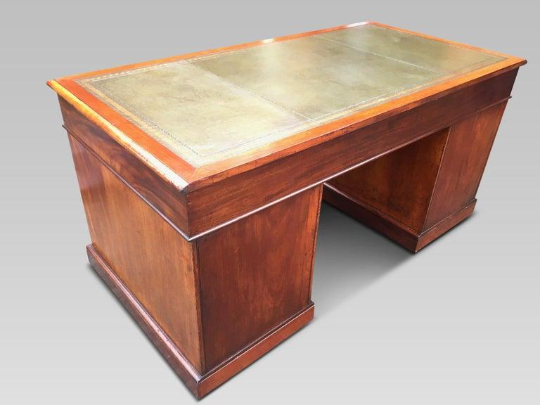 19th Century Mahogany Desk, English, circa 1850 For Sale