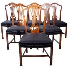Mahogany Dining Room Chairs after Chippendale, England, circa 1800