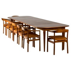 Mahogany Dining Table by Josef Frank for Svenskt Tenn, Sweden, 1950s