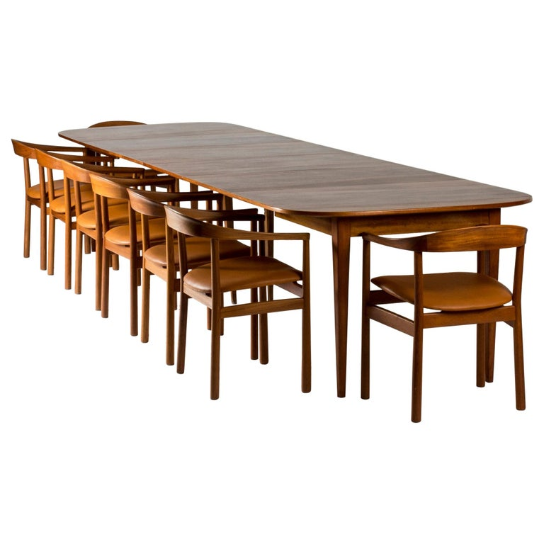Mahogany Dining Table by Josef Frank for Svenskt Tenn, Sweden, 1950s