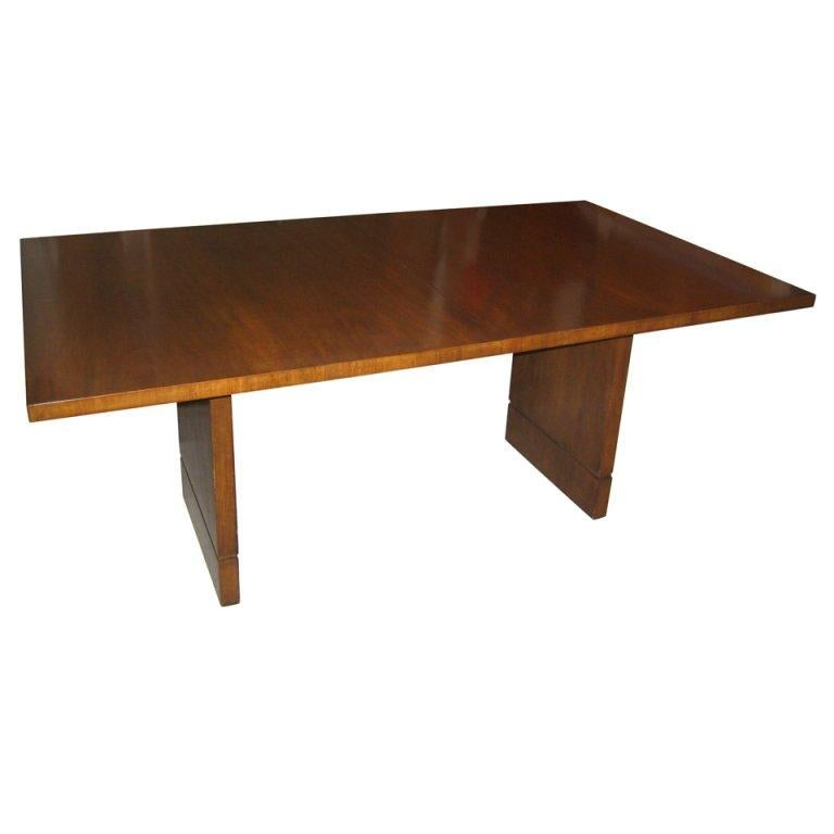 Mahogany Dining Table by T.H. Robsjohn-Gibbings For Sale