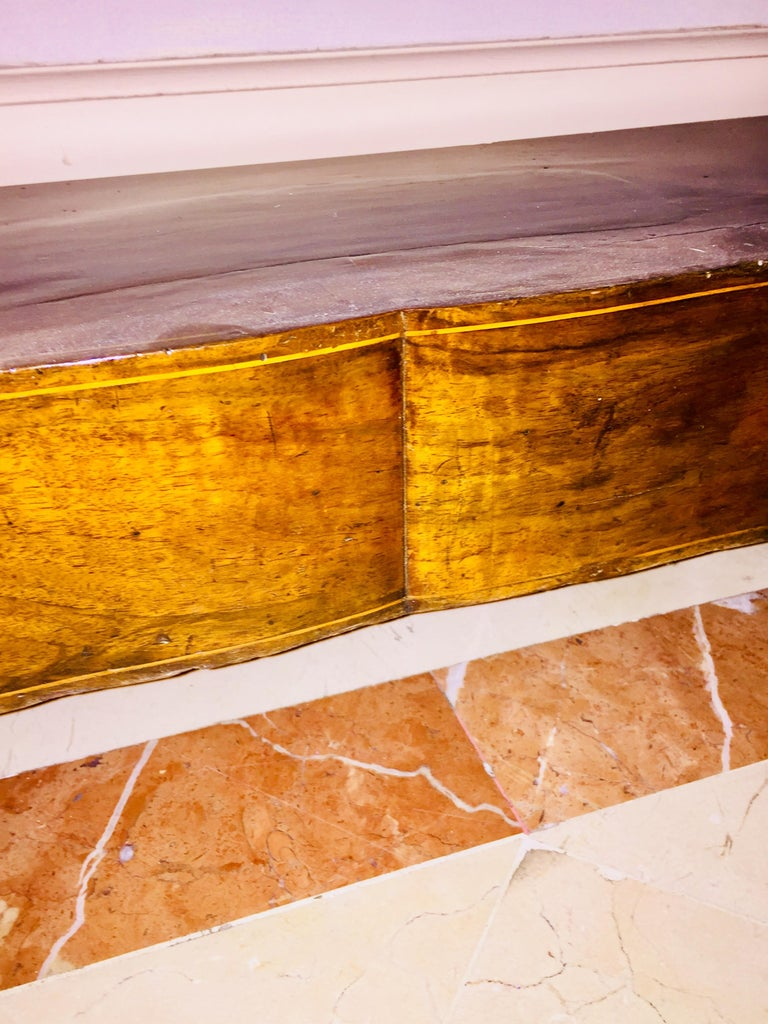 Mahogany Directoire Restauration French Marble-Top Console Table For Sale 2