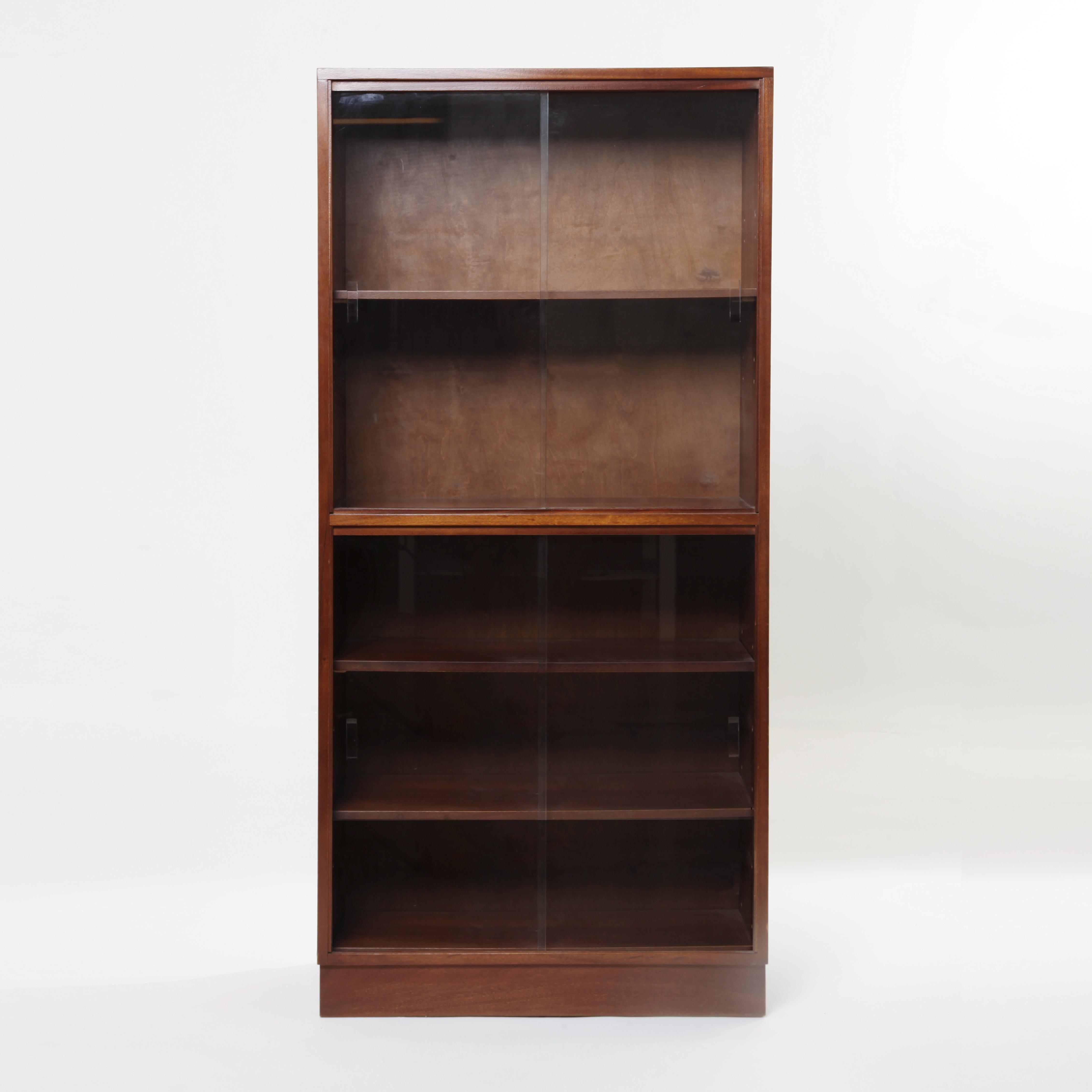 Superieur Mid Century Mahogany Display Cabinet Bookshelf, Shelving Unit