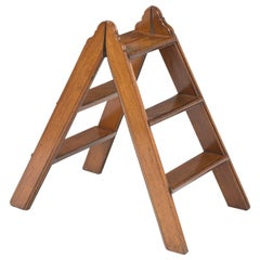 Mahogany Double-Sided Folding Step Ladder, circa 1870