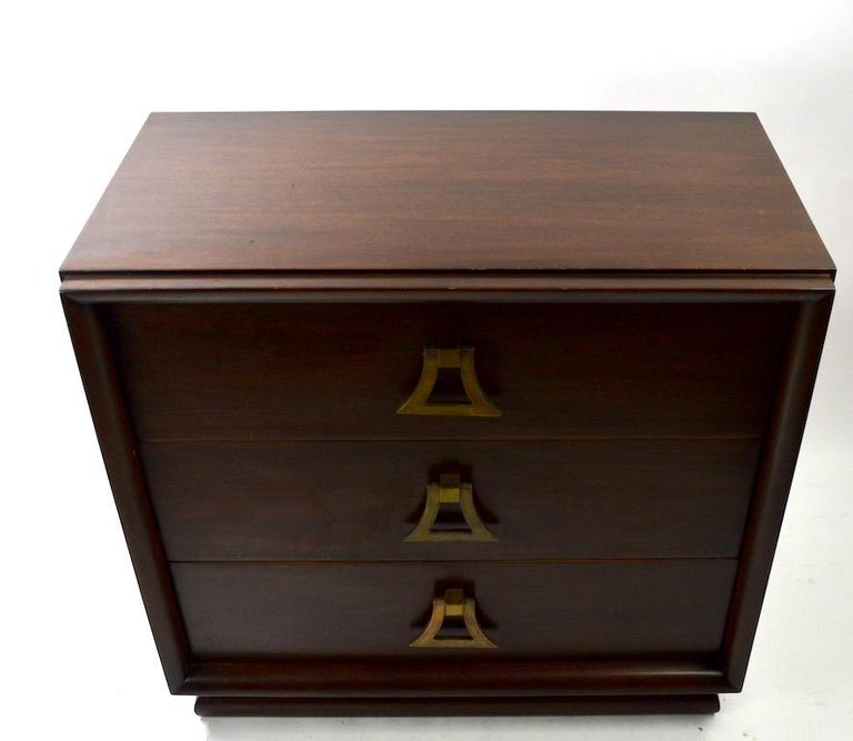 Hollywood Regency Mahogany Dresser by Harjer For Sale
