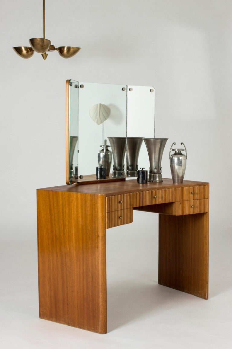 Mahogany Dressing Table by Carl-Axel Acking for Nordiska Kompaniet For Sale 6