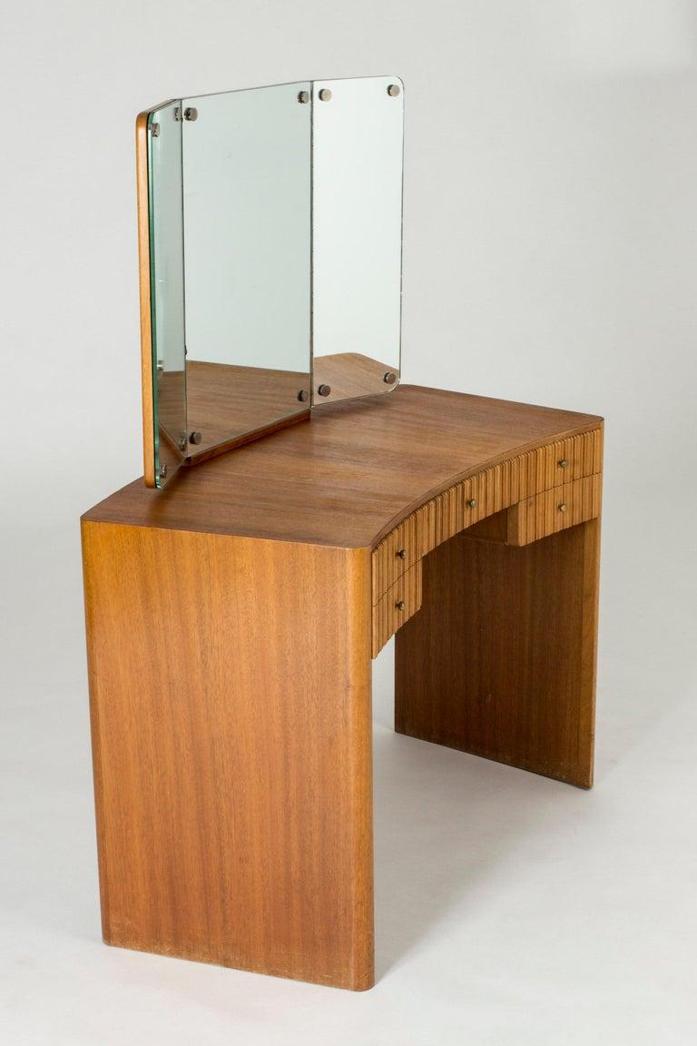 Scandinavian Modern Mahogany Dressing Table by Carl-Axel Acking for Nordiska Kompaniet For Sale