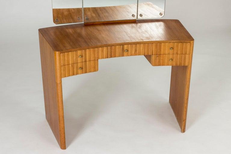Swedish Mahogany Dressing Table by Carl-Axel Acking for Nordiska Kompaniet For Sale